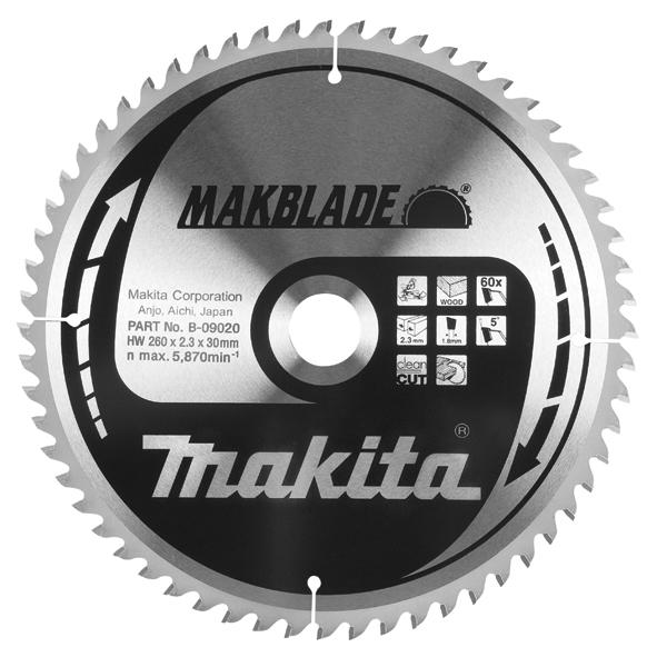 Фото Пильный диск TCT MAKBlade Makita B-09092
